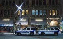Carros de polícia em Dallas fotos de stock