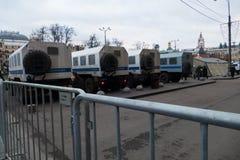 Carros de polícia em Moscou Imagens de Stock Royalty Free