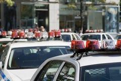 Carros de polícia Fotografia de Stock