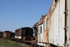 Carros de trem velhos Fotos de Stock