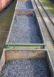 Carros del carbón Foto de archivo libre de regalías