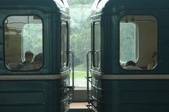Carros del metro fotos de archivo