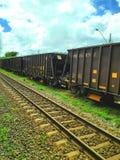 Carros del tren Fotos de archivo