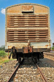 Carros del tren de carga. Imagenes de archivo