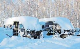 Carros desmontados após o acidente Fotografia de Stock