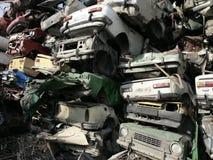 Carros despedaçados Fotografia de Stock