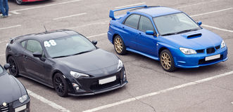 Carros desportivos imagens de stock