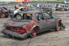 Carros destruídos Fotos de Stock