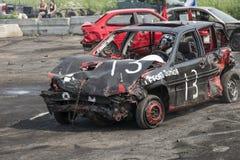 Carros destruídos Imagem de Stock Royalty Free