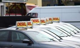 Carros diesel fotografia de stock royalty free