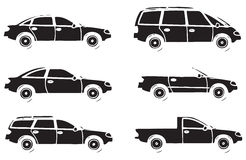 Carros diferentes Foto de Stock Royalty Free