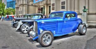 Carros do americano dos anos 30 do vintage Fotos de Stock