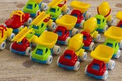 Carros do brinquedo das crianças Fotografia de Stock Royalty Free