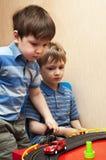 Carros do brinquedo do jogo de crianças Imagens de Stock Royalty Free