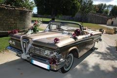 Carros do casamento do vintage imagens de stock royalty free
