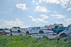 Carros do cemitério de automóveis Fotos de Stock