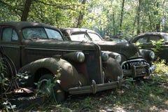 Carros do cemitério de automóveis Fotografia de Stock