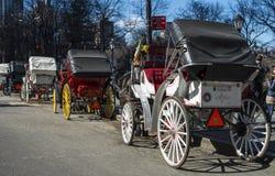 Carros do Central Park Fotos de Stock Royalty Free