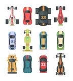 Carros do esporte e de competência - grupo de elementos modernos do vetor ilustração royalty free