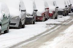 Carros do estacionamento Imagens de Stock Royalty Free