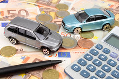 Carros do Euro Fotografia de Stock Royalty Free