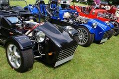 Carros do jogo de DIY em uma feira automóvel Fotografia de Stock
