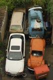 Carros do Junkyard Imagens de Stock Royalty Free