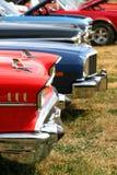 Carros do músculo em uma fileira Fotos de Stock Royalty Free