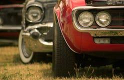Carros do músculo em uma fileira Imagem de Stock Royalty Free