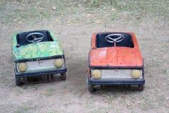 Carros do pedal do vintage imagens de stock royalty free