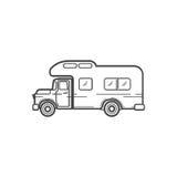 Carros dos campistas Ilustração do vetor Imagem de Stock