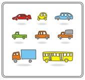 Carros dos desenhos animados Fotografia de Stock