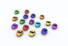 Carros dos desenhos animados Foto de Stock