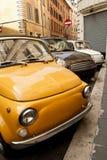 Carros em Roma. Imagem de Stock