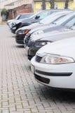 Carros em um estacionamento Imagem de Stock