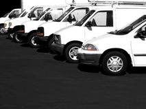 Carros em uma fileira Imagem de Stock Royalty Free