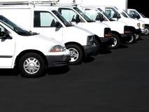 Carros em uma fileira Fotografia de Stock Royalty Free