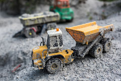 Carros esquecidos do brinquedo Fotografia de Stock Royalty Free