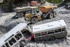 Carros esquecidos do brinquedo Foto de Stock Royalty Free