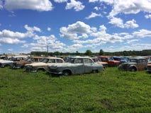 Carros esquecidos velhos fotos de stock