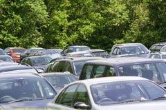 Carros estacionados. Imagens de Stock Royalty Free