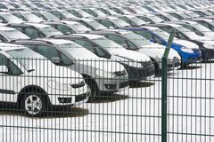 Carros estocados Imagem de Stock Royalty Free