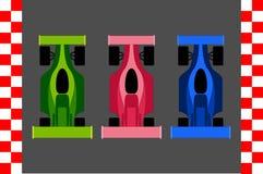Carros F1 ilustração do vetor