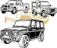 Carros fora de estrada - grupo do vetor Fotos de Stock Royalty Free