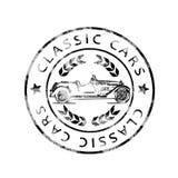 Carros históricos do clássico do carimbo postal Imagens de Stock Royalty Free