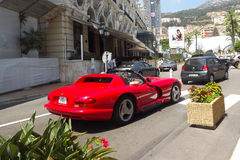 Carros luxuosos em Montecarlo, Mônaco Imagens de Stock Royalty Free