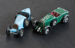 Carros modelo do vintage fotos de stock