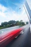 Carros moventes rápidos foto de stock royalty free
