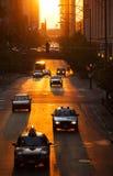 Carros na cidade Fotografia de Stock Royalty Free