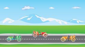 Carros na estrada Ilustração Stock